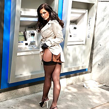 Mistress at the ATM Machine Ready to Drain You