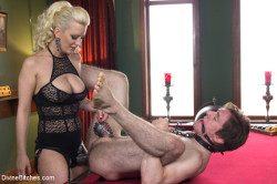 Chastity Slave Getting the Strapon