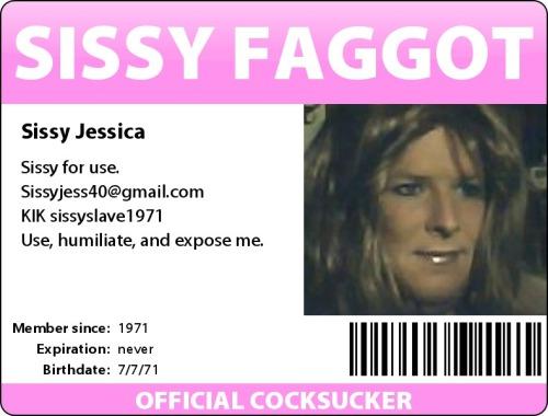 Sissy Faggot ID Card