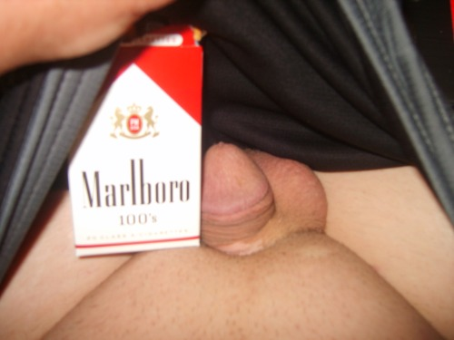 Dick is smaller than a cigarette