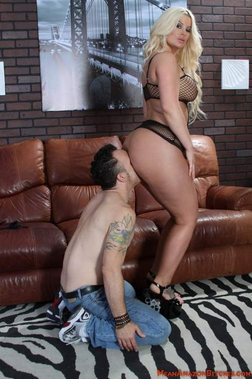 Blonde goddess sits on your face whenever she pleases