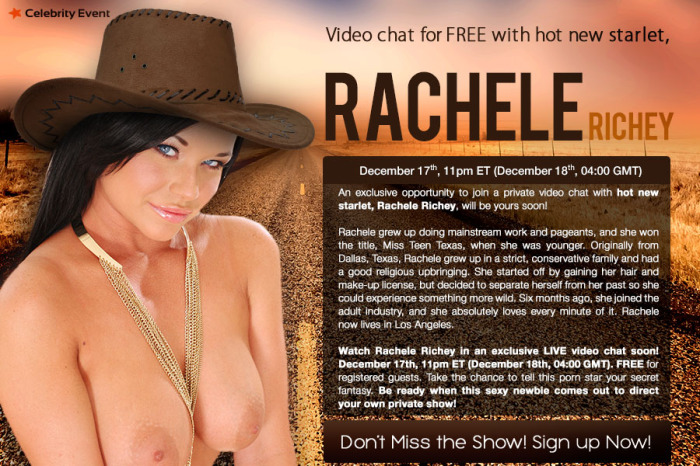 Rachele Richey for Webcam Video Chat!