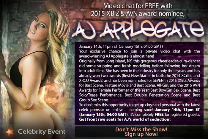 AJ Applegate on Webcam