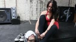 Tormenting a toe loving slave