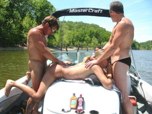 Wife takes two dicks out on the boat
