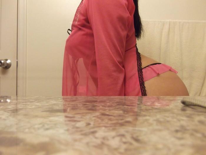 Pink panty teaser
