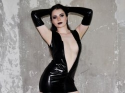 Cruel and Evil Latex Dominatrix