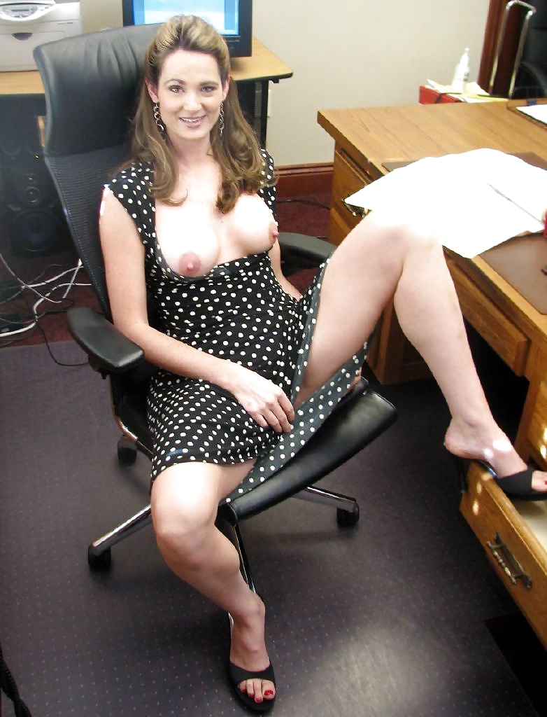 Nude milfs at work — img 10