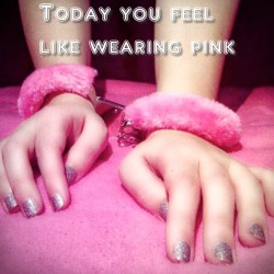 Today sissy feels like wearing pink