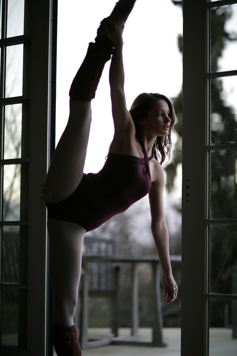 Flexible girl in a leotard