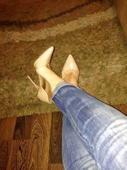Sexy nude high heels