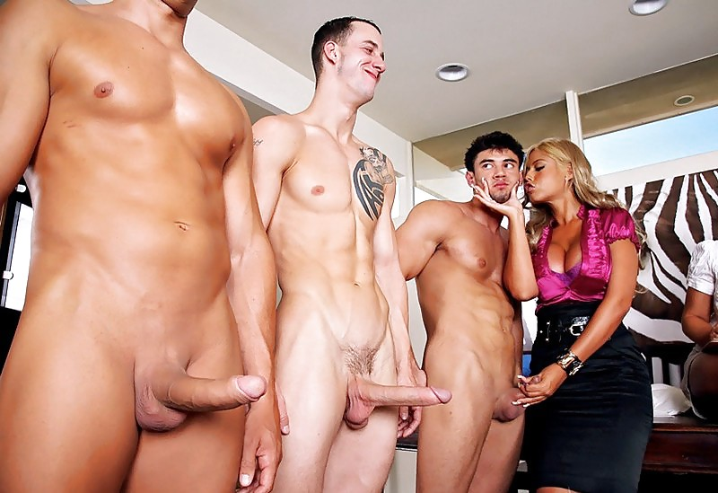 image Cfnm group of hotties watch babe