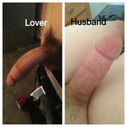 Her lover's cock vs her husband's cock