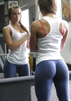 her yoga pants fit that ass so perfect