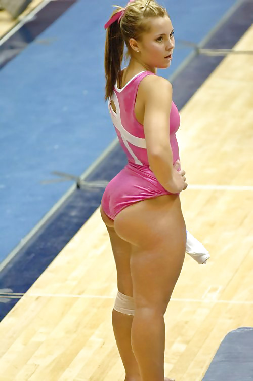 Hot gymnastics chick with a big booty