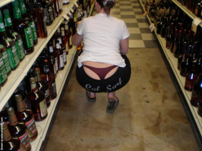 Hot ass in the liquor store whale tailing