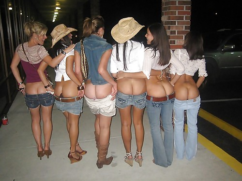 College cowgirls mooning the camera