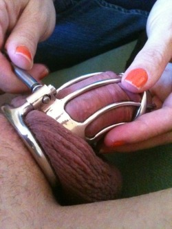 This chastity device will never come off!