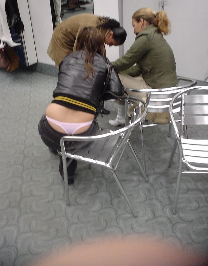 Pink panty whale tail