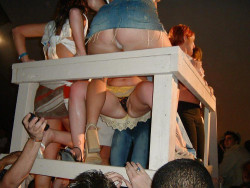 College party girls are a great source for upskirts