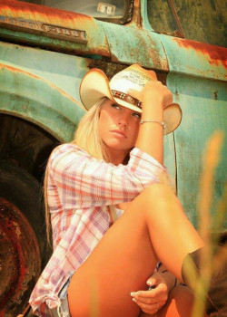Nothing hotter than a sexy blonde cowgirl