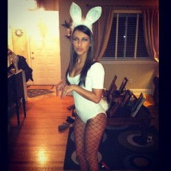 This Naughty Easter Bunny has some sweet tasting candy I bet