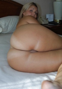 Big married ass and bare pussy