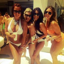 College slut party by the pool!