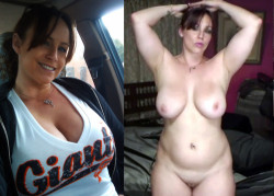 Big milf titties: before and after