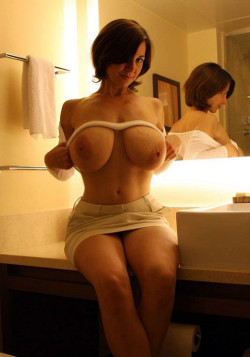 MILF with huge natural titties