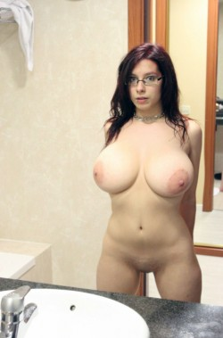 Big round tits with matching nipples