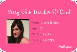 Sissy Caroline Becomes a Fem Sissy Club Member!