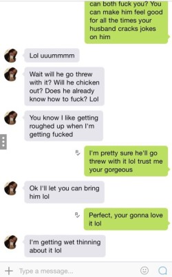 Wife Text Messaging About a Cheating Threesome!