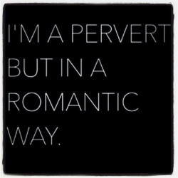 I'm a Pervert but in a Romantic Way
