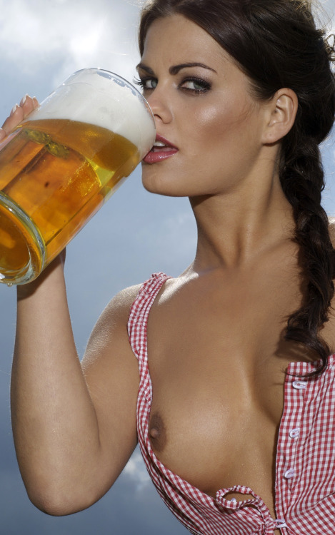 Porn Drinking Beer