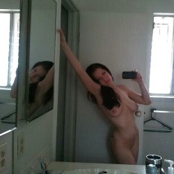 Selfie of Her Pussy and Titties!