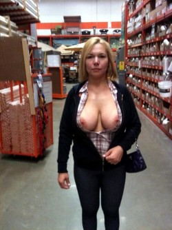 Your wife is luring cocks at Home Depot