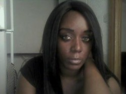 Beautiful Black Domina Trains Strapon Slaves on Webcam