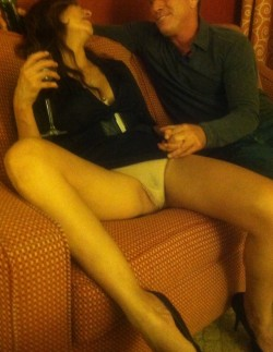 Hotwife Shows Panties to a Stranger at the Hotel