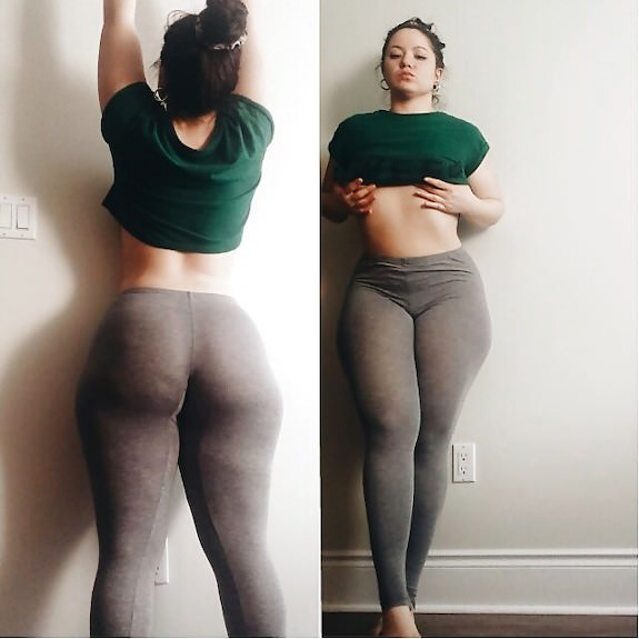 Curvy chick in super thin leggings