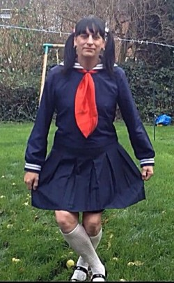 sissy japanese schoolgirl Katie/kenneth taylor dong a curtsy like a good girl
