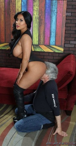 Mistress Literally Sits on His Face