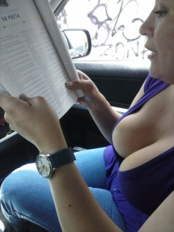 Hot view down her blouse