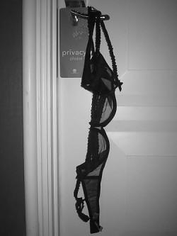 Bra Hanging from the Door Knob