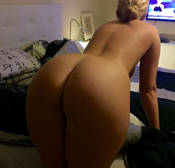 Blonde wife has a big round booty