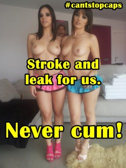 You're a stroke addict now, stroke and leak for us!