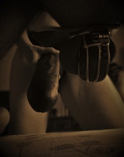 Chastity Slave About to Get Strapped