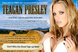 Teagan Presley Webcam Chat on 6/22