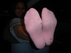 Sniff My Smelly Pink Socks