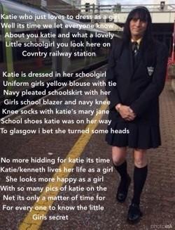 Sissy schoolgirl Katie